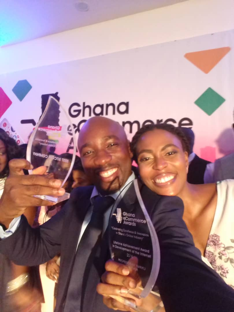 Ghana Dot Com Team Present at the award
